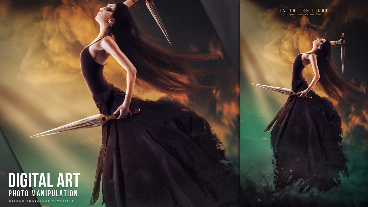 Create This Into The Light Digital Art Photo Manipulation Tutorial