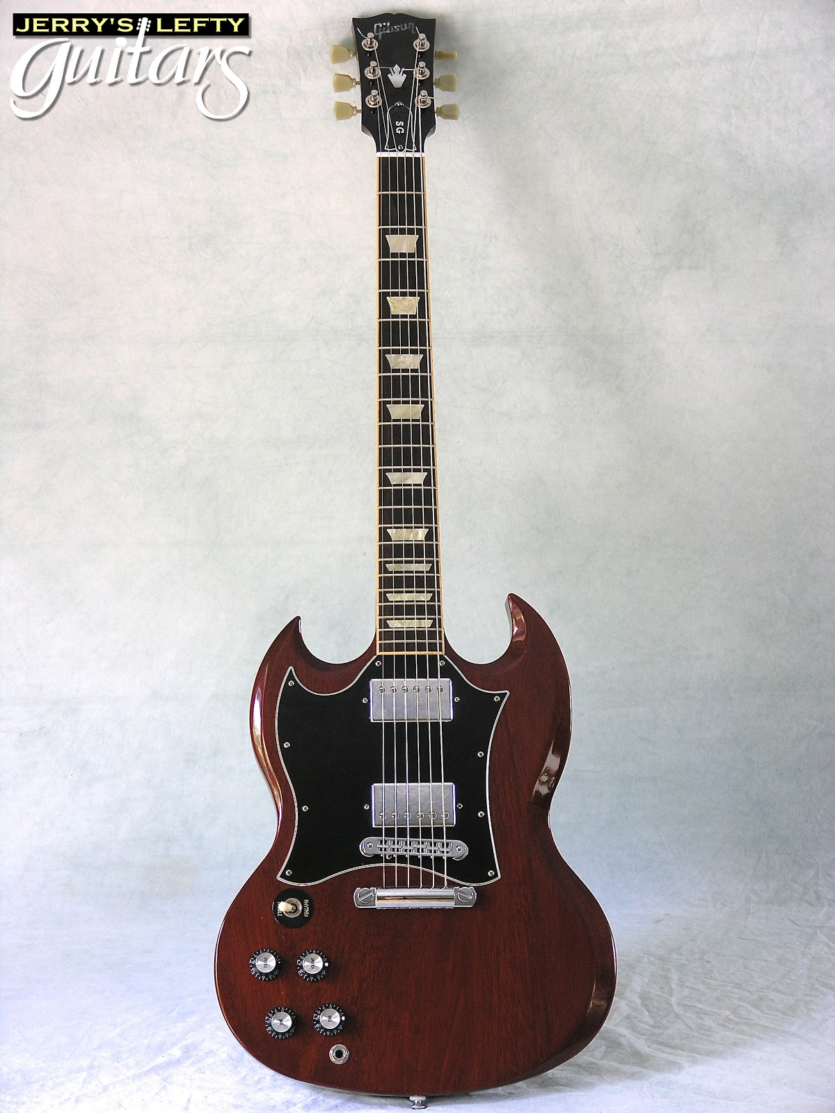 jerry 39 s lefty guitars newest guitar arrivals updated weekly 2007 gibson sg standard used left. Black Bedroom Furniture Sets. Home Design Ideas