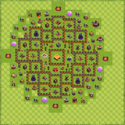 War Base Town Hall Level 10 By georges381 (georges TH 10 Layout)