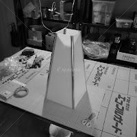 足下行灯の修理 新しいポリカーボネート製の灯り箱