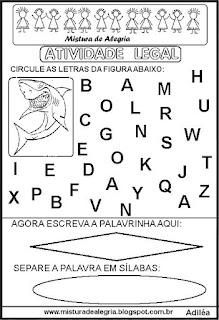 Atividade legal de alfabetização T