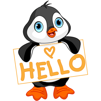 Hello penguin emoji