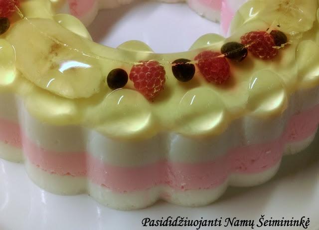 RECEPTAS: Želė tortas