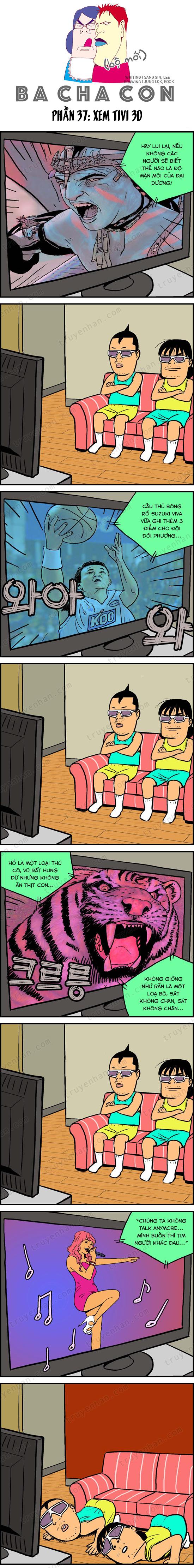 Ba cha con (bộ mới) phần 37: Xem TV 3D