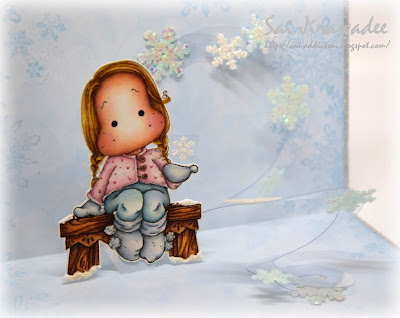 Magnolia Tilda with Sock Puffs Pop Up Card