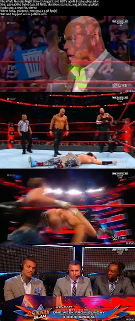 WWE Monday Night Raw 07 August 2017 HDTV 480p