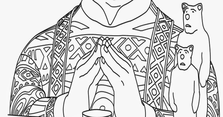 Downloads Frozen Coloring Book Pages Oaken