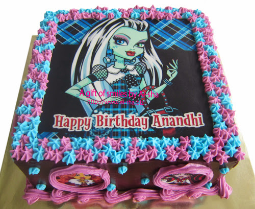 Birthday Cake Edible Image Monster High  Frankie Stein Ai-sha Puchong Jaya