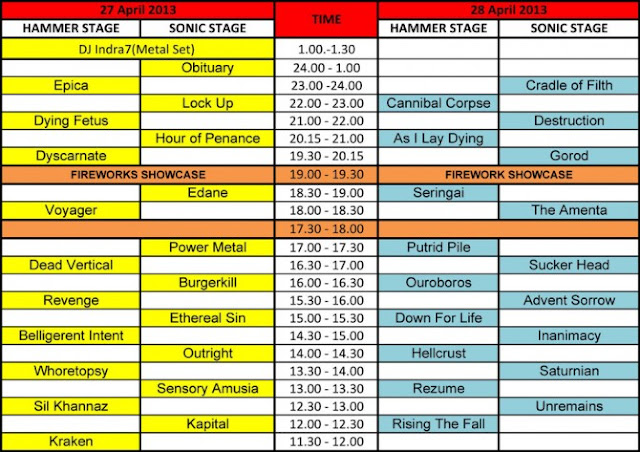 Rundown Hammersonic 2013