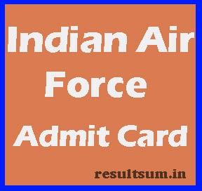 Indian Air Force Admit Card 2015
