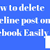 Delete Facebook Posts