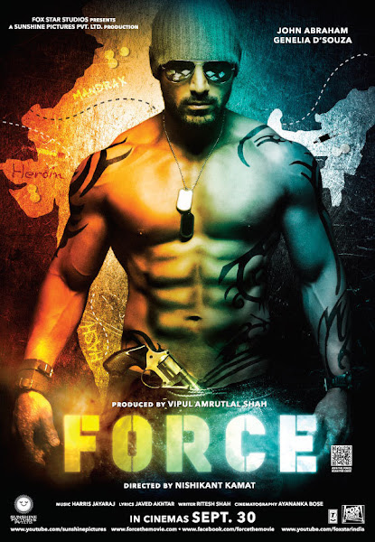 Poster of Force 2011 720p Hindi HDRip Full Movie Download