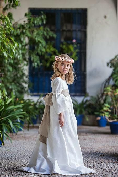 Vestido de comunión para niña Pikiliki