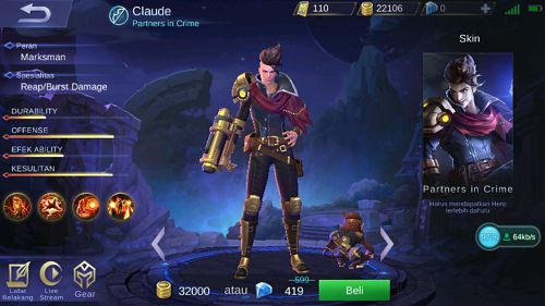 Guide Claude, Build, Skill, Ability, Set Emblem Yang Cocok, Hingga Tips Menggunakannya