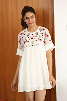 Lavanya Tripathi in Summer Style Spicy Short White Dress at her Interview  Exclusive 244.JPG