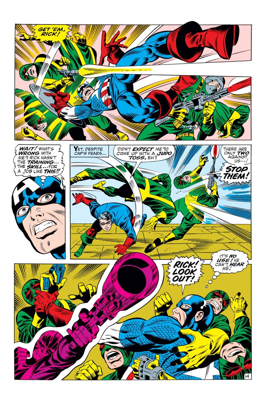 Read online Captain America (1968) comic -  Issue #110 - 14