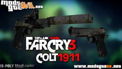Arma Colt 1911 do FarCry 3