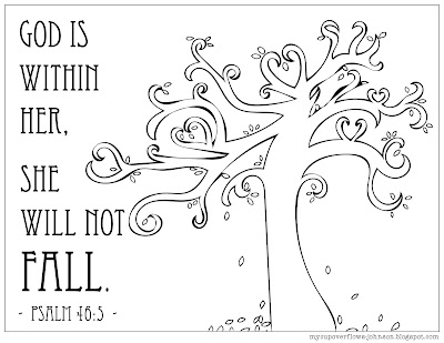 free fall tree coloring page
