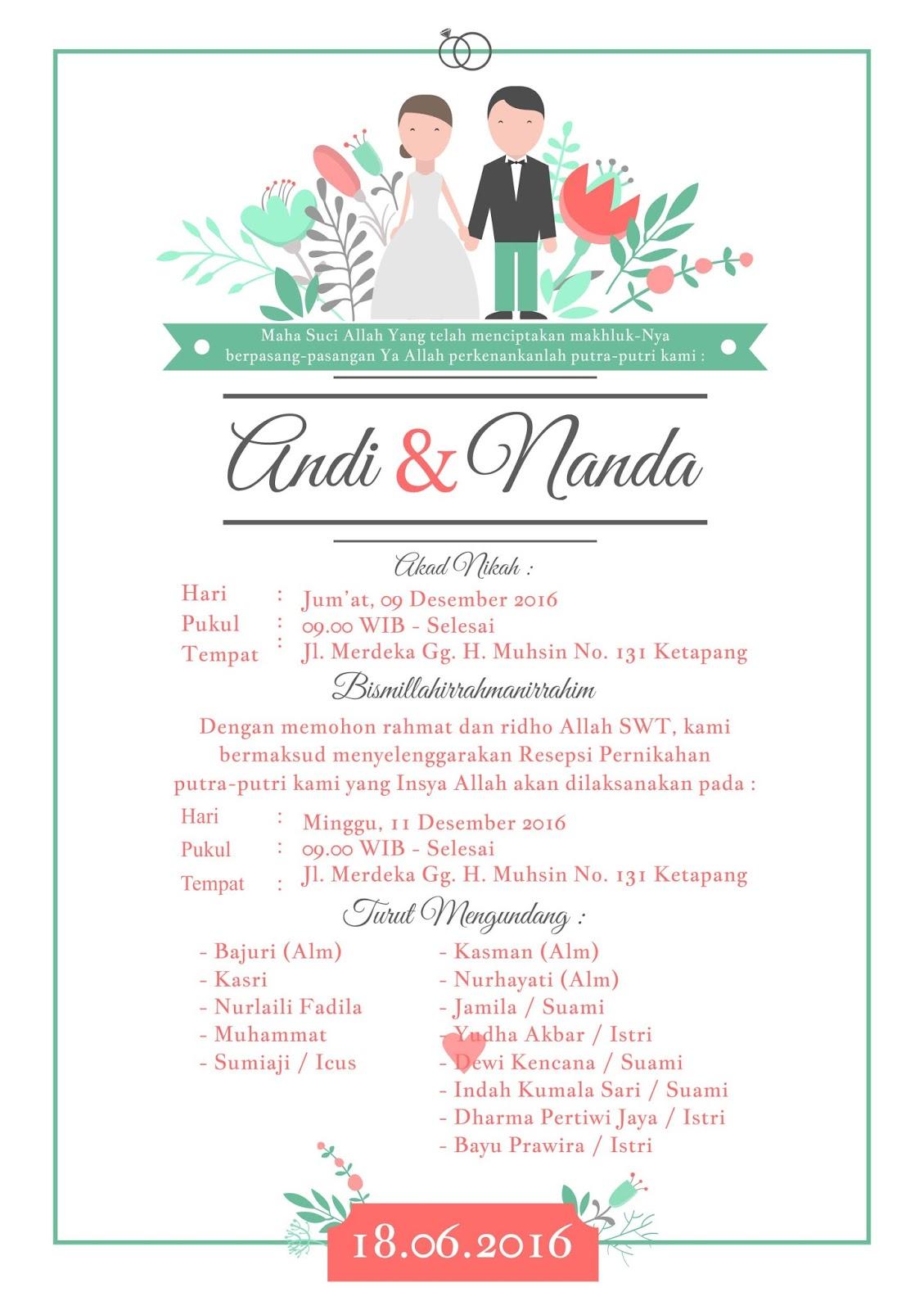 Kartu Ucapan Pernikahan Cdr - mypic.asia