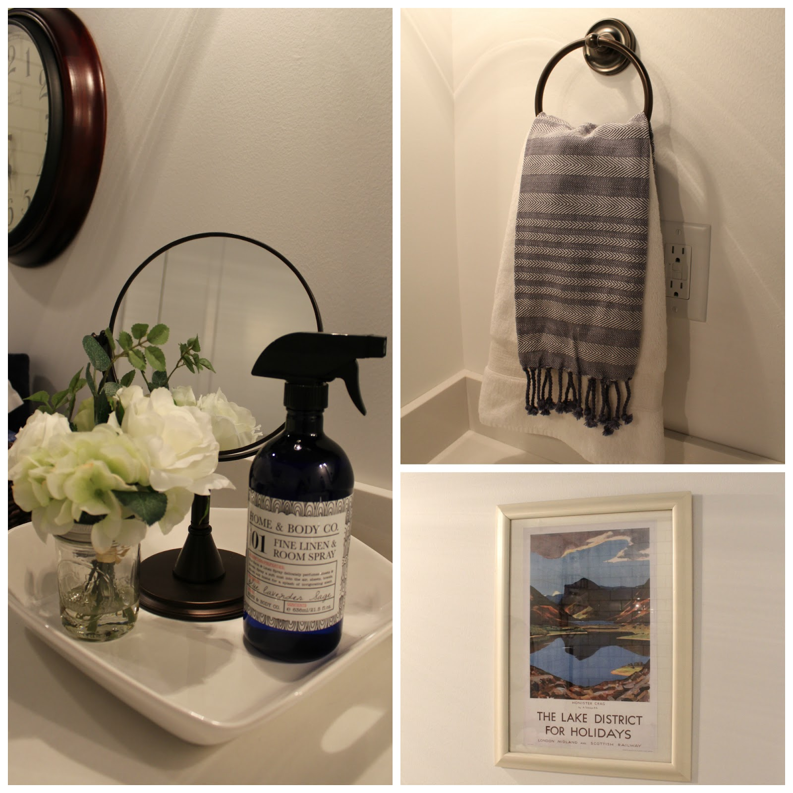 Navy Blue Bathroom Wall Art: Honey I'm Home: Navy Blue Bathroom