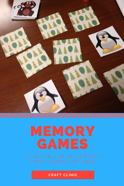 Memory Games A fun on the go activity for a variety of ages craft clinic