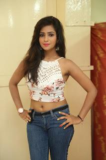 Deekshita Parvathi in a short crop top and Denim Jeans Spicy Pics Beautiful Actress Deekshita Parvathi January 2017 CelebxNext (3).JPG