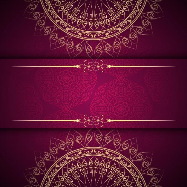 Abstract beautiful mandala design background Free Vector
