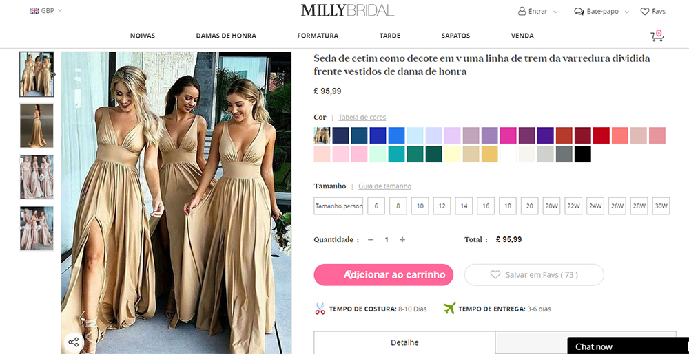Conheça a Millybridal UK uma loja moda festa com modelos super estilosos que irão te encantar