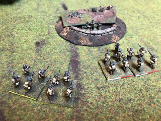 The British open fire with rifles causing more German casualties