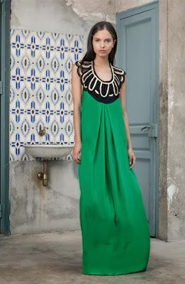 vestido largo verde invitada boda