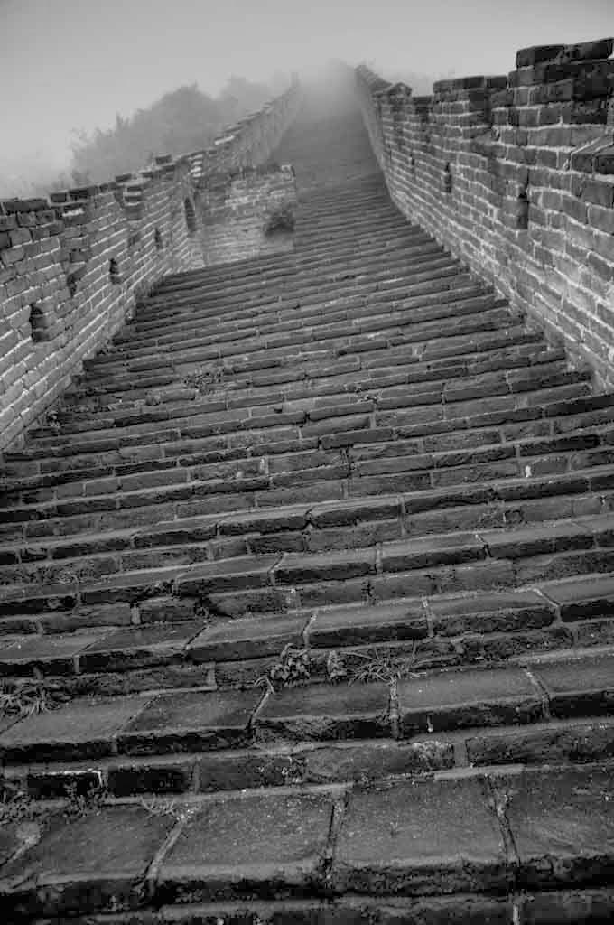 Escaleras en La Gran Muralla China