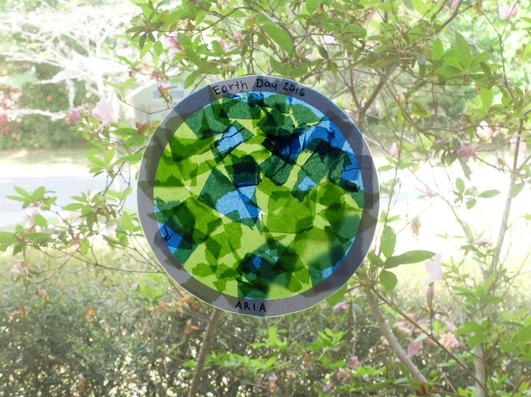 stained glass earth project