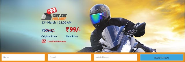Droom Helmet - Buy Helmet at Rs. 99 from Droom Helmet Sale