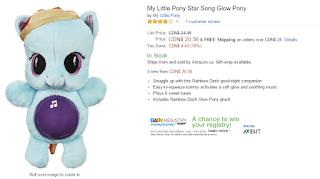 MLP Starsong Playskool Friends Glow Pony Plush Prototype