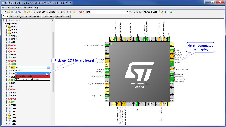 STM32 + I2C OLED SSD1306 + u8glib + CubeMX