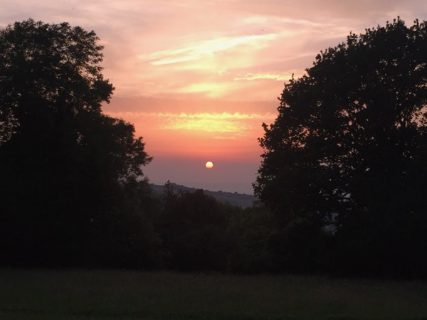 Cotswolds countryside sunset uk