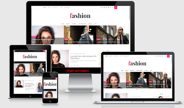 Fashion Clean Responsive Blogger Template