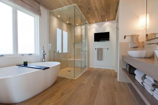 ห้องน้ำพื้นไม้