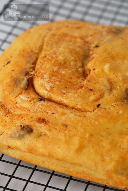sfogliata Italian paprika anchovy bread