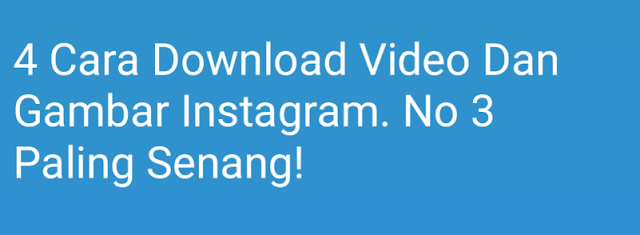 cara download gambar video instagram