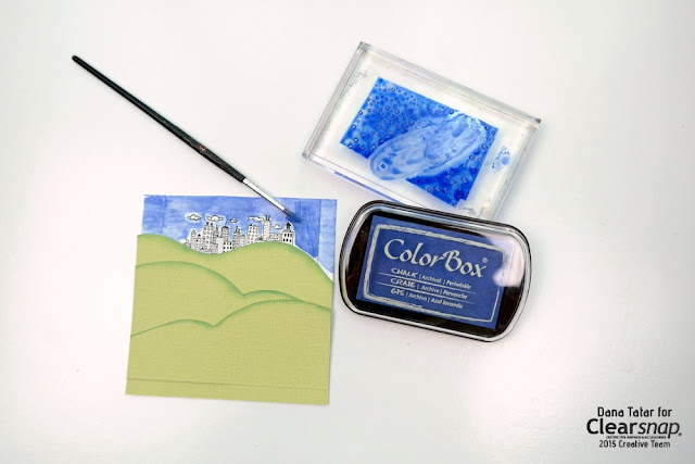 How to Watercolor with ColorBox Chalk Ink by Dana Tatar for Clearsnap