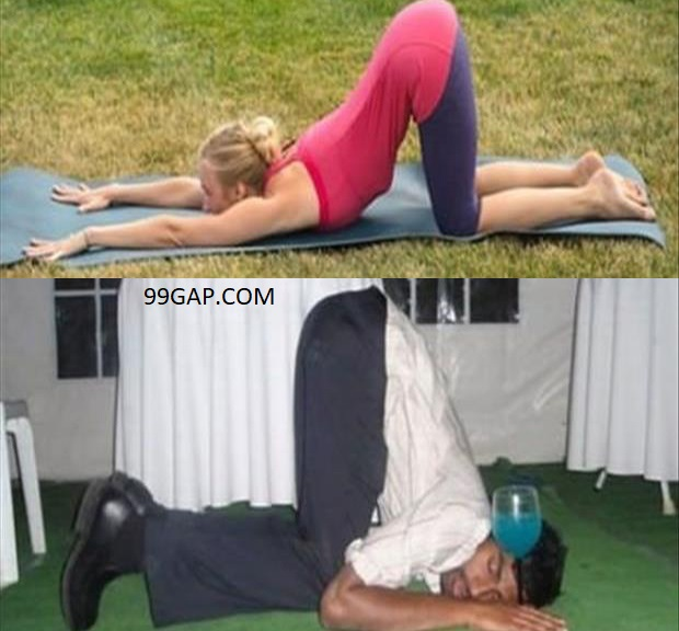 Lol Funniest Pictures Of Yoga Vs Vodka