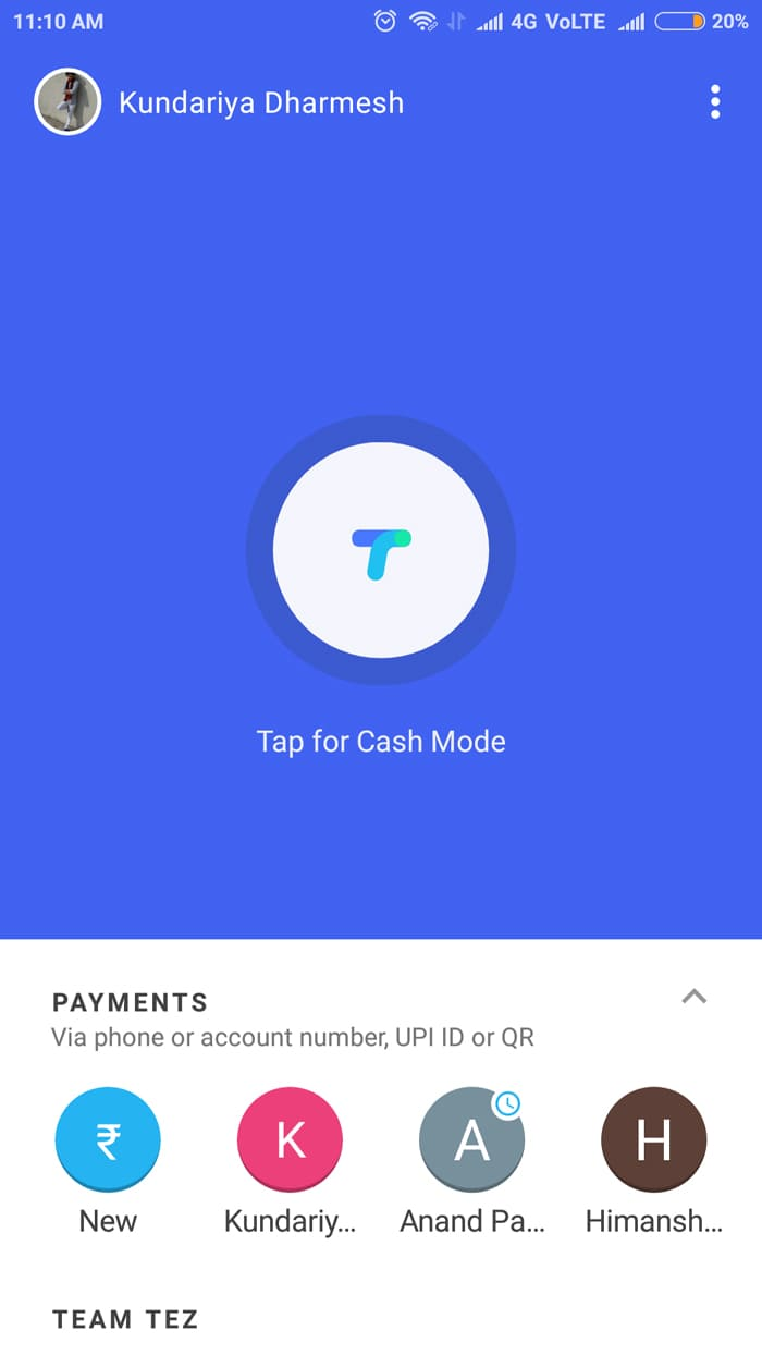 Receive and Send Money for गूगल ने Google Tez App