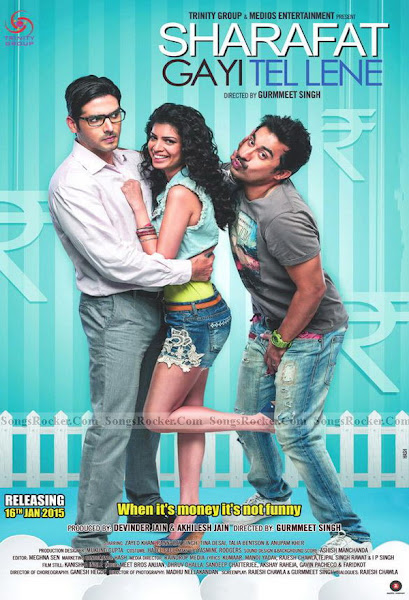 Poster Of Sharafat Gayi Tel Lene 2015 720p Hindi HDRip Full Movie Download