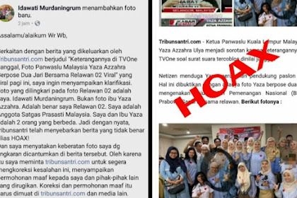 Hoax Foto Ketua Panswaslu Malaysia Yaza Azzahra Pendukung 02, Berikut Klarifikasinya