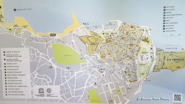 Mapa de Corfu por El Guisante Verde Project