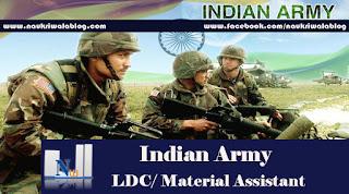 LDC/ Material Assistant Job 2017