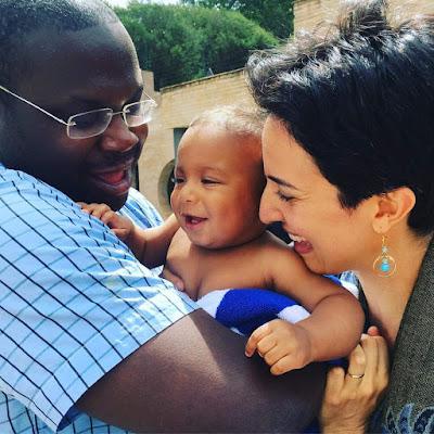 Лейла Ехсани-Таньи с мужем Нахджаваном Таньи и сыном Риазом в Найроби