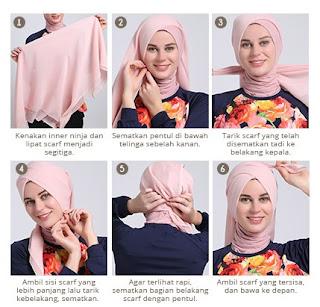 Tutorial hijab scarf segi empat turban