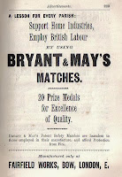 Bryant and May's Matches - advertisement